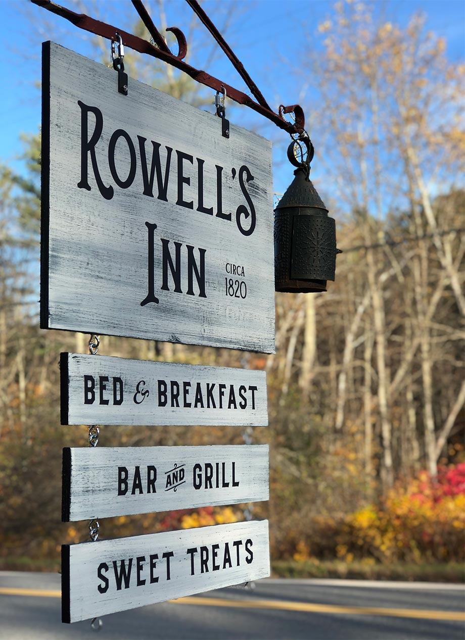 Rowell's Inn Bed & Breakfast Sign